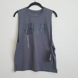 New Womens Grey Under Armor workout tank top